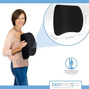 三个尺寸可选€24起bonmedico 记忆泡沫腰垫 贴合腰部 久坐党必备 本周8.5折