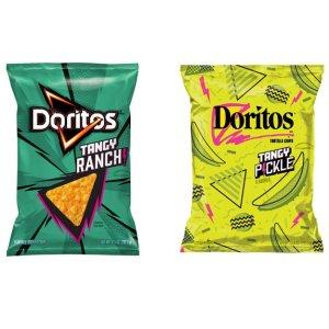 两包$5(原价$6.98)上新:Doritos 浓郁ranch牧场调料、腌脆瓜口味玉米片