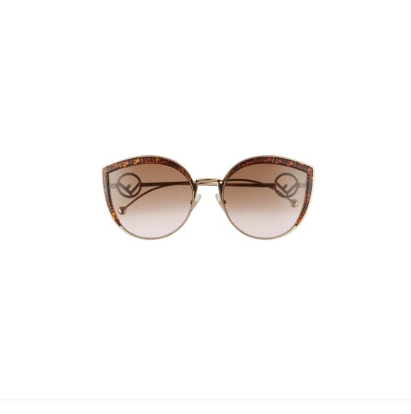 58mm Metal Butterfly Sunglasses