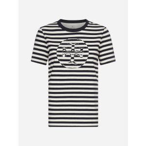 Tory Burchlogo 条纹T恤