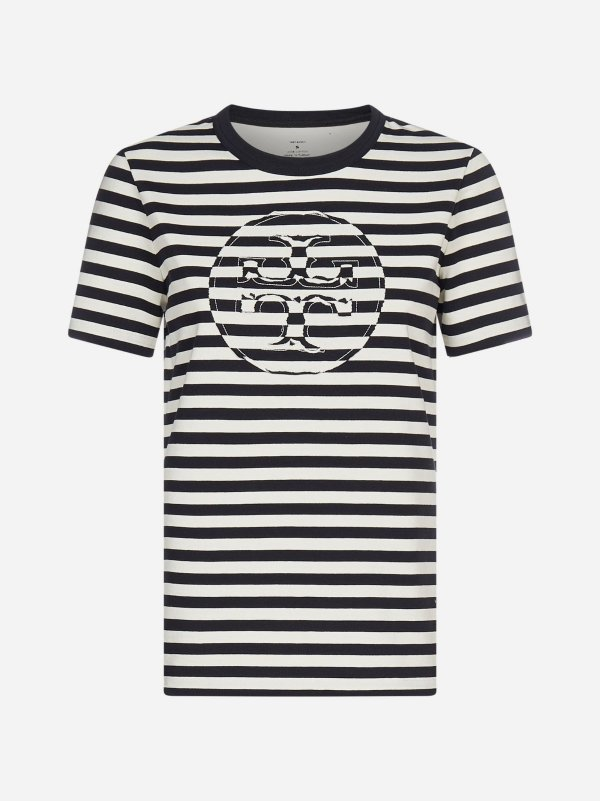 logo 条纹T恤