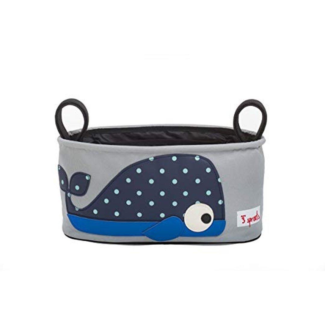 鲸鱼带把手收纳篮