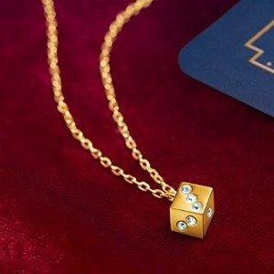 满额送封面骰子项链Swarovski 全场首饰热卖 收新款幸运塔罗牌系列