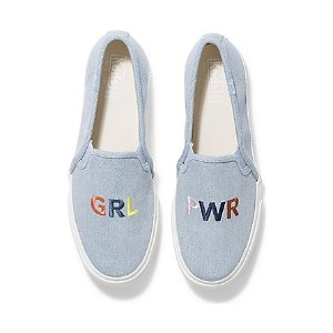 KedsDouble Decker Embroidery 'GRL PWR'