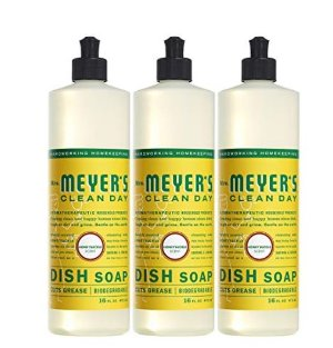 Mrs. Meyer's Clean Day Dish Soap, Honeysuckle, 16 fl oz, 3 ct