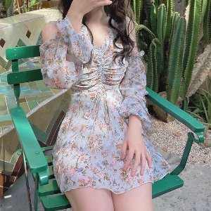 低至3折 $115收Reformation 好身材法式碎花美裙 Rose、热巴也在穿
