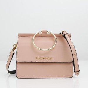 Brianna - Leather Cross Body Bag Blush