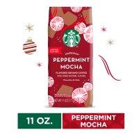 Starbucks 节日限定 薄荷摩卡咖啡粉 11 Oz 袋装