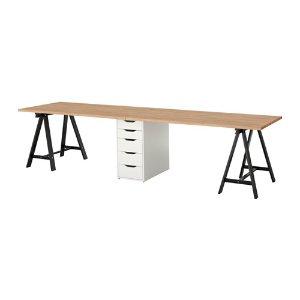 (1) IKEA超長書桌:GERTON / ALEX Table