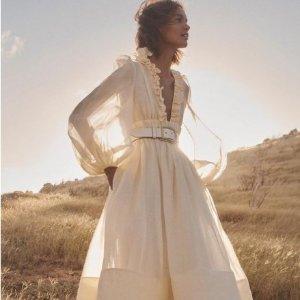 低至3折起Zimmermann 仙裙大促 真丝上衣$197,仙女裙立省$560