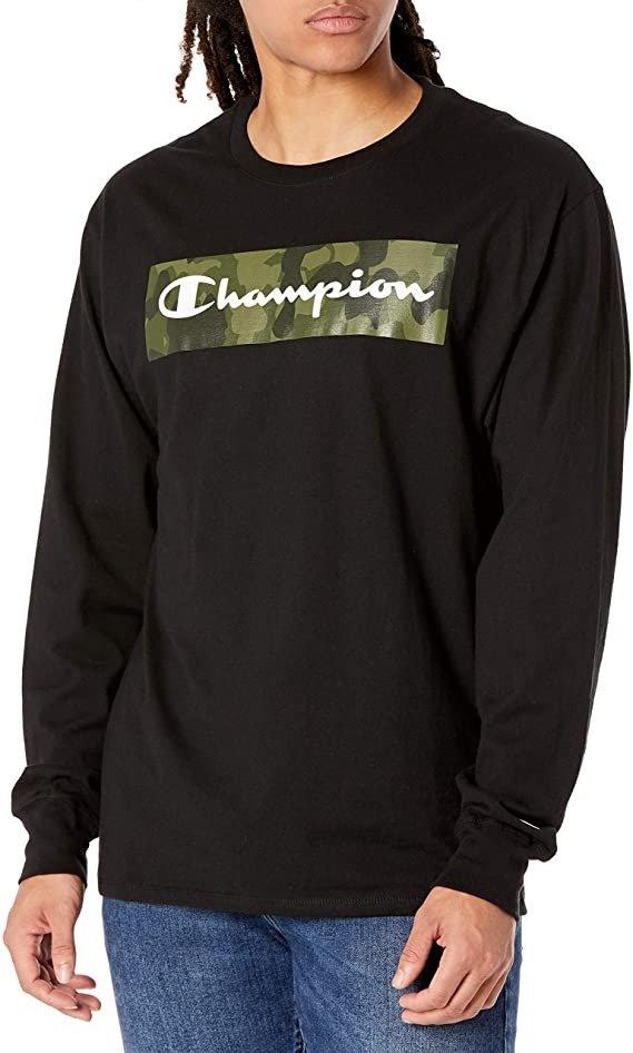 Champion 男士长袖T恤