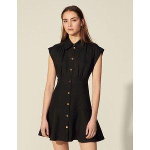 SandroShort sleeveless dress