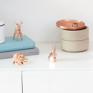 Amazon.com: Umbra Anigram Ring Holder– Metal Plated Bunny, Reindeer and Elephant Ring Holders – Great as Party Favors, Copper Ring Holders, Set of 3: Home & Kitchen