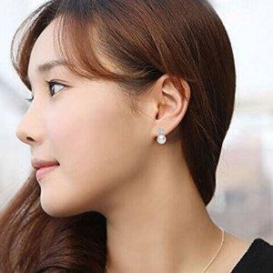 闪购$16.88(原价$52.61)Joyfulshine 纯银淡水珍珠耳环