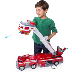 $35.99 包邮 云梯长2英尺 可喷射水枪Paw Patrol 带云梯儿童消防车玩具 有110用户给出4.8星好评