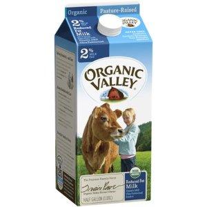 Organic Valley, Organic Reduced Fat Milk, Half Gallon - Walmart.com