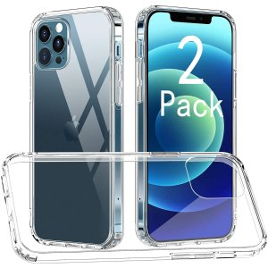 CTYBB iPhone 12/12 Pro Clear Case 2-Pack