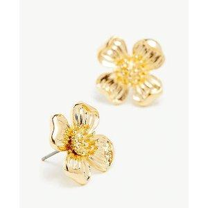 Ann TaylorMetal Flower Stud Earrings   Ann Taylor