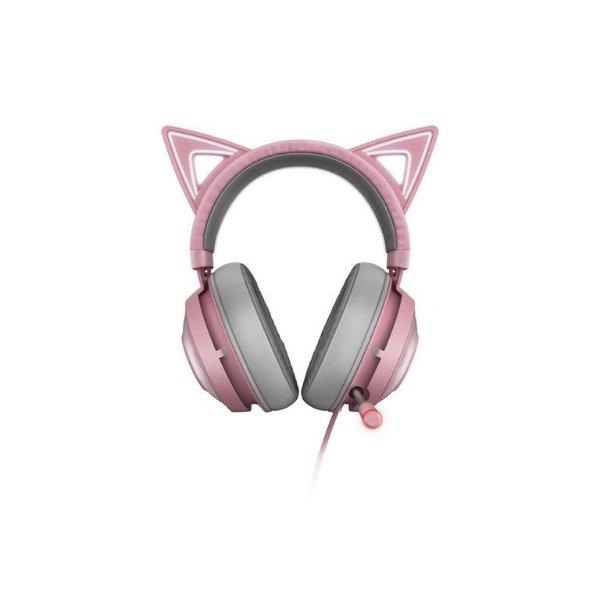 Kraken 猫猫版 有线游戏耳机 粉色