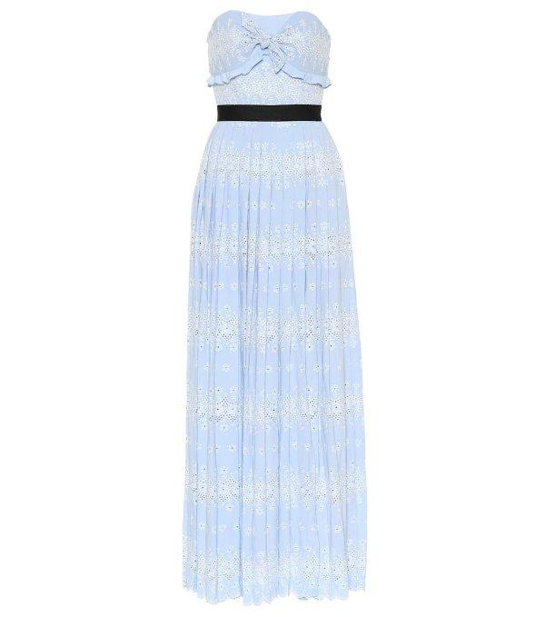 经典蓝色长裙
