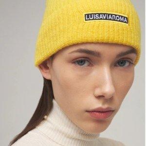 LuisaViaRoma2折!白菜价logo毛线帽