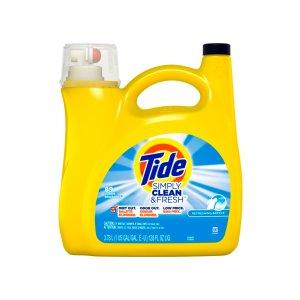 Tide Simply Clean & Fresh Liquid Laundry Detergent, Refreshing Breeze, 128 Fl Oz
