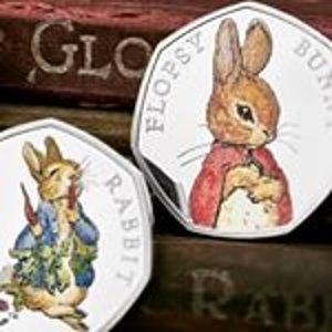 低至5折 + 免运费 £8收纪念币!Beatrix Potter、Paddington 等儿童经典人物收藏币复活节热卖!