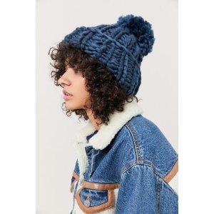 粗针织帽子 多色