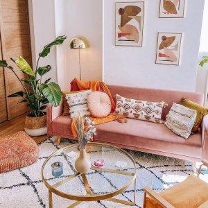 低至6折 €29收印花靠枕MADE 家居家具闪促 简约现代风 INS网红款 理想生活长这样
