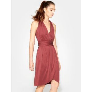 HalstonHalter Belted Wrap Dress