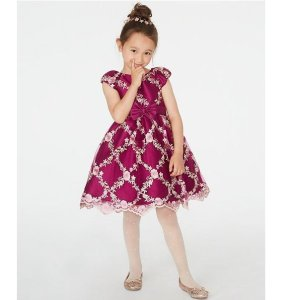 低至$5.96Macy's 女童连衣裙热卖 白菜价收节日礼服裙