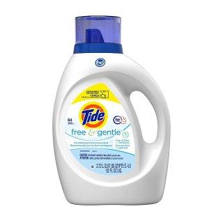 Tide需点击额外$3优惠券无香型洗衣液