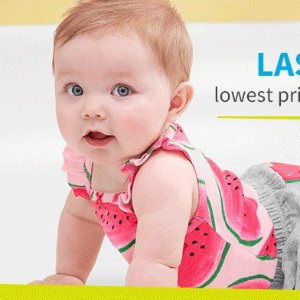 夹脚拖$4 三件套降至$10折扣升级:Carter's童装官网 低至5折夏日热卖,爬服$6起