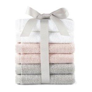 Asstd National BrandMorgan 毛巾6件套 多色可选