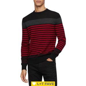 Calvin KleinStriped Wool-Blend Sweater