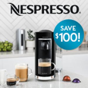 $199 (原价$299)Nespresso VertuoPlus 胶囊咖啡机 热卖 2色可选