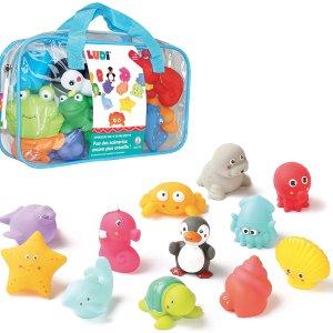 €15.99 边玩边学习认识小动物LUDI 法国著名宝宝洗澡伴侣12件套 材料安全可放嘴玩耍