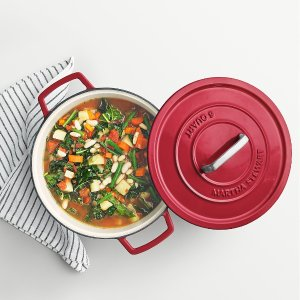 $44.99 Martha Stewart Collection Collector's Enameled Cast Iron 6 Qt. Round Dutch Oven, Created for Macy's