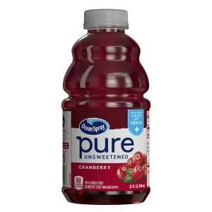 Ocean Spray 100%纯正蔓越莓汁 32oz 8瓶