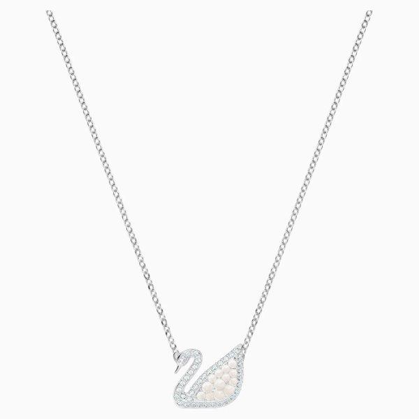 珍珠天鹅项链