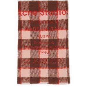 Acne Studios格纹围巾