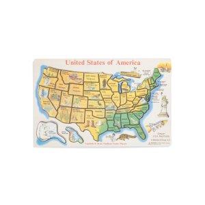 美国地图拼图