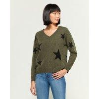 Star V-Neck 羊绒衫