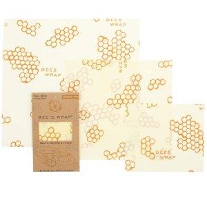 Bee's Wrap 可重复利用多用蜂蜡保鲜膜 大/中/小3件套装