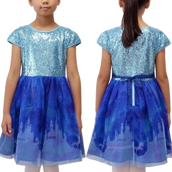小童闪片礼服裙