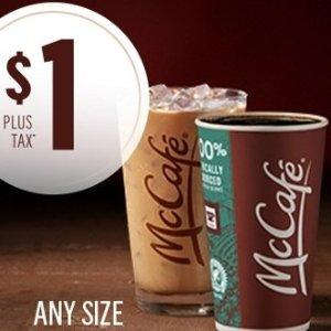 任意大小咖啡只需$1