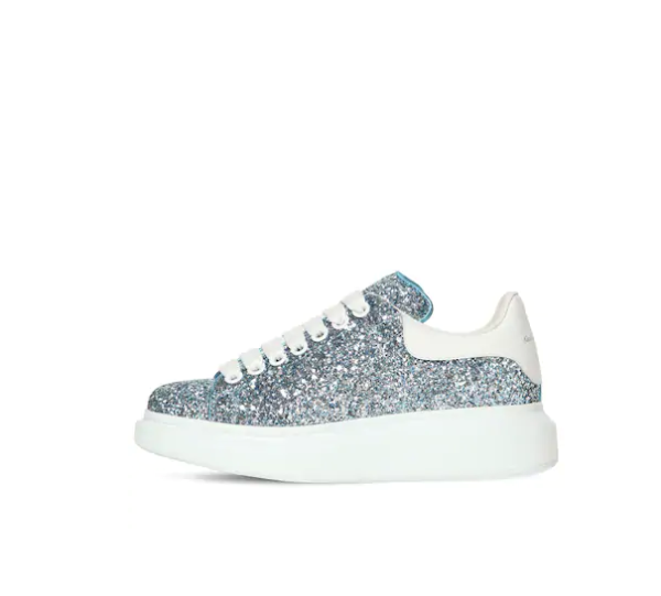 40MM 蓝亮片小白鞋