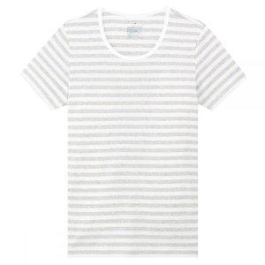 MujiWomen Organic Cotton Rib Short Sleeves Crew Neck T-Shirt
