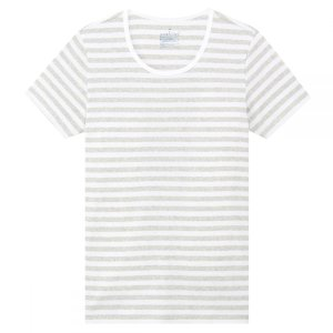 Muji纯棉条纹T恤