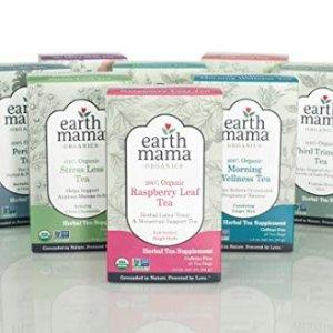 $4.16起 舒缓压力减轻疼痛史低价:Earth Mama 女性孕期哺乳期有机草本茶 16包